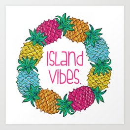 Island Vibes Pineapple Art Print