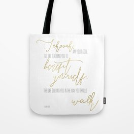 Isaiah 48:17 - Goldie Tote Bag