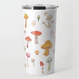 Mushroom Scientific Study Illustration Travel Mug
