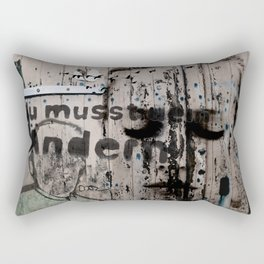 Change is a positive act Rectangular Pillow
