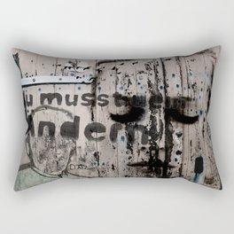 Change is a positive act Rectangular Pillow