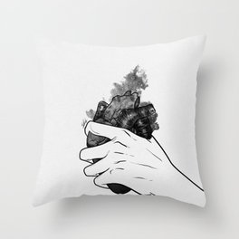 Hold on your heart. Throw Pillow