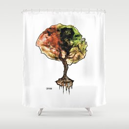 A Tree of Life Shower Curtain