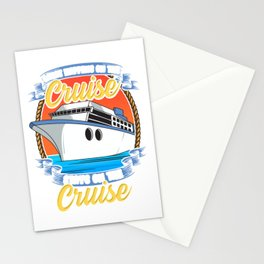 What Happens On The Cruise Stays On The Cruise Pun Stationery Cards