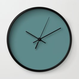Steel Teal - solid color Wall Clock