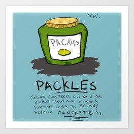 Packles Art Print