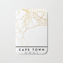 CAPE TOWN SOUTH AFRICA CITY STREET MAP ART Bath Mat