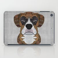 boxer iPad Cases featuring Boxer by ArtLovePassion