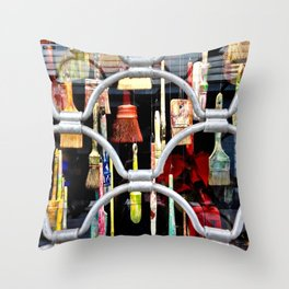 brushes in color Throw Pillow