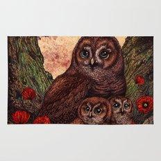 Tawny Owlets Rug