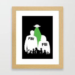 An X-File Framed Art Print