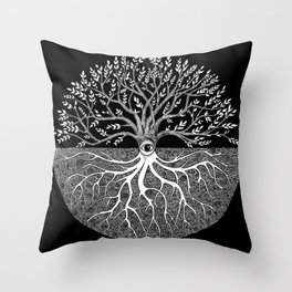 Druid Tree of Life Throw Pillow