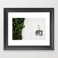 Television versus nature Framed Art Print