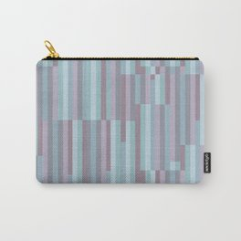 PLUM TURQUOISE STRIPES MINIMALIST Carry-All Pouch