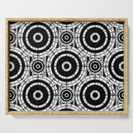 Geometric black and white Serving Tray