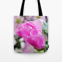 Pink Musk Mallow Rolled-up Tote Bag