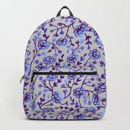 Watercolor Peonies - Periwinkle Backpack