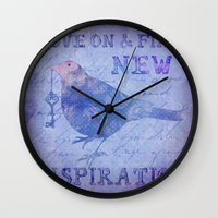motivation Wall Clocks featuring Motivation by LebensART