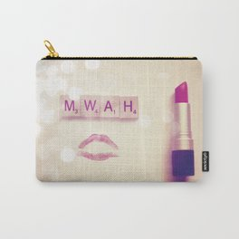 MWAH Lipstick Rose Scrabble Carry-All Pouch