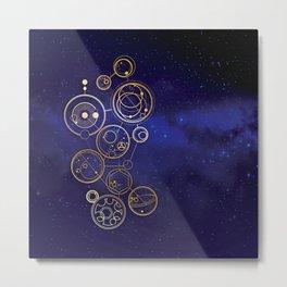 Gallifrey Gold Space Geometry Metal Print