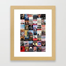 Donald Trump Books Framed Art Print