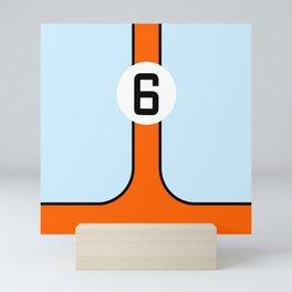 Gulf Le Mans Tribute design Mini Art Print