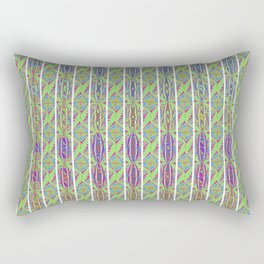 Light Green Multi-Color Diamond shapes Rectangular Pillow