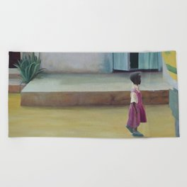 African Girl Beach Towel