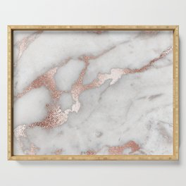 Rose Gold Marble Serving Tray