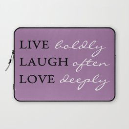 Live Laugh Love Quote Typography Laptop Sleeve