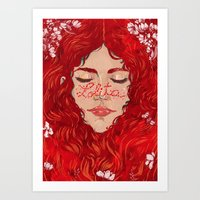 lolita Art Prints featuring Lolita  by Nicolae Negura