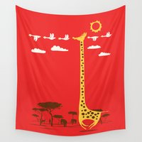 ilovedoodle Wall Tapestries featuring I'm Like A Bird by I Love Doodle