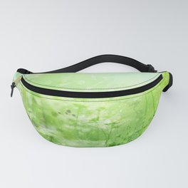 Green Watercolor Floral Fanny Pack
