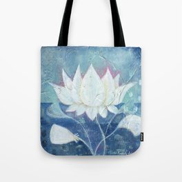 Abstract Lotus Art Acrylic Painting Reproduction by Kimberly Schulz Tote Bag