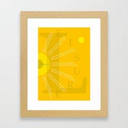 LEISURE II Framed Art Print