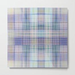 Scottish tartan pattern deconstructed Metal Print