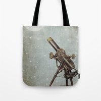 moonrise Tote Bags featuring Moonrise by Eric Fan