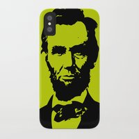 lincoln iPhone & iPod Cases featuring Lincoln by Liam Schultz