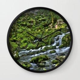 Natural Stream Wall Clock