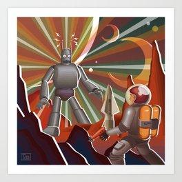 Space Rendez Vu Art Print