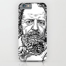 ALFRED,LORD TENNYSON ink portrait iPhone Case