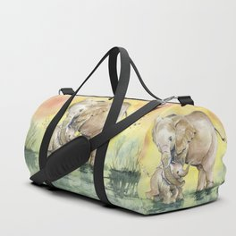 Colorful Mother's Love - Elephant Duffle Bag