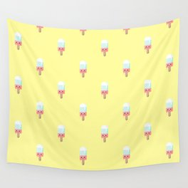 Kawaii melting popsicle pattern Wall Tapestry