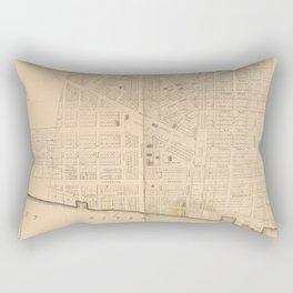 Vintage Map of Detroit MI (1835)` Rectangular Pillow