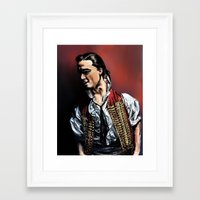 enjolras Framed Art Prints featuring Enjolras by rapunzette
