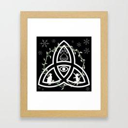Celtic Knot, Evil Eye, and Cats Framed Art Print
