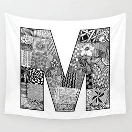 Cutout Letter M Wall Tapestry