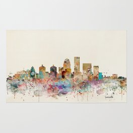 louisville kentucky skyline Rug