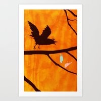 Don't Crow There Art Print