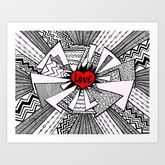 Power of Love... Art Print